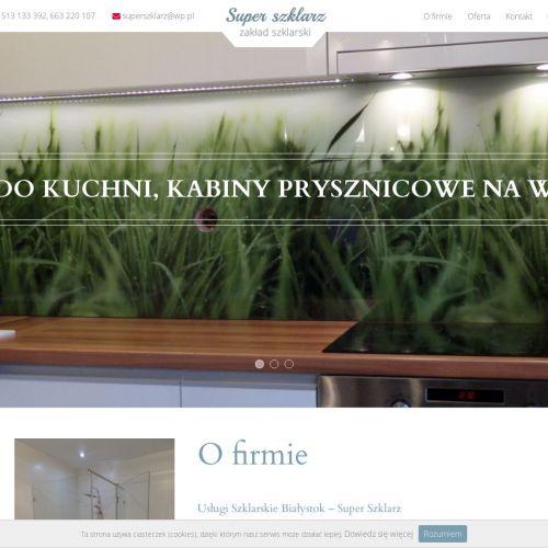 Daszki szklane Białystok