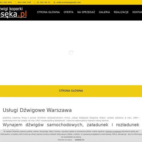 Sprzedaż dźwigów samochodowych - Warszawa