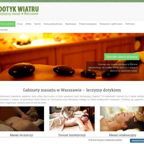 Warszawa - gabinet masażu