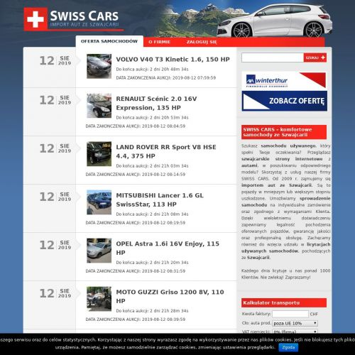 Auta szwajcaria
