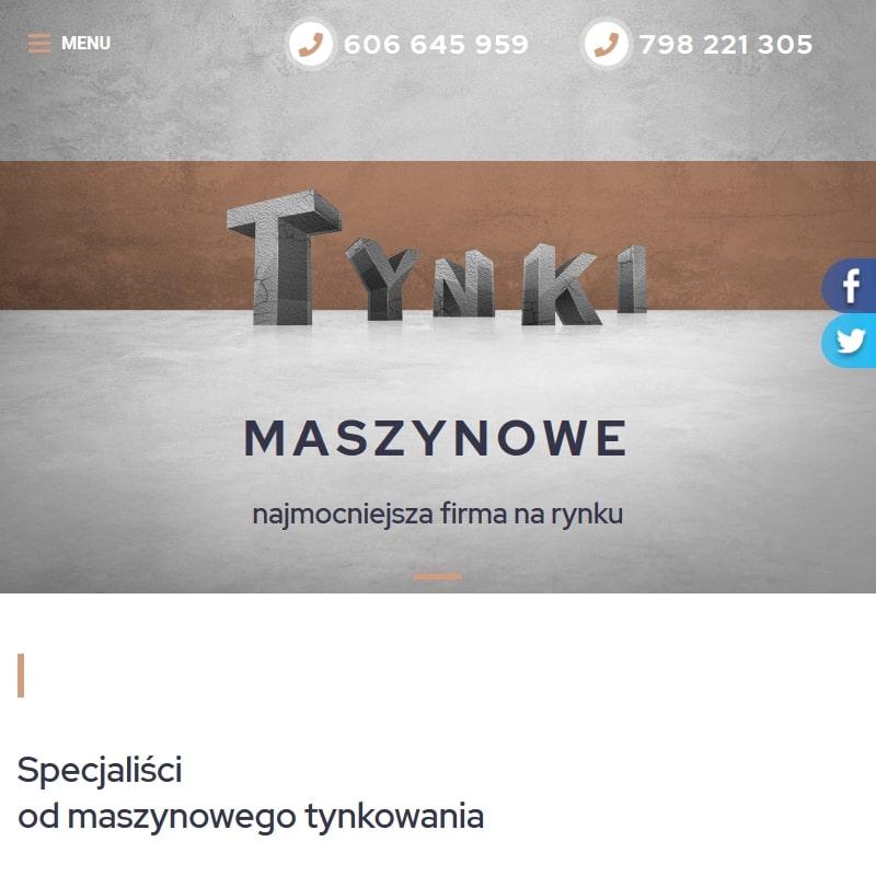 Tynkowanie maszynowe elewacji - Piotrków Trybunalski