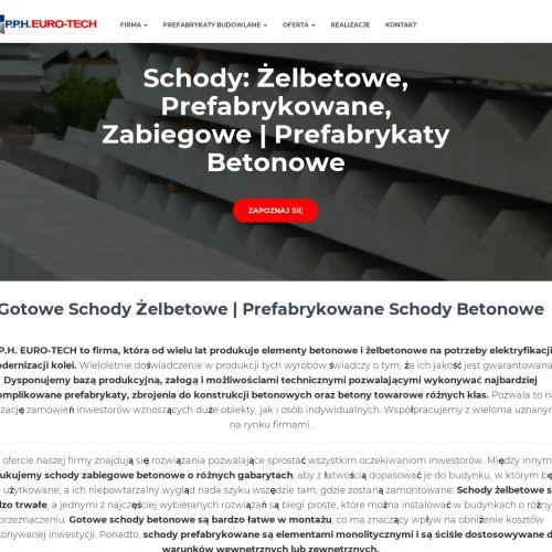 Schody proste schody proste żelbetowe - Szczecin