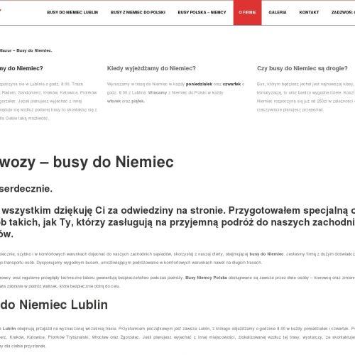 Przewóz osób do niemiec - Kraków