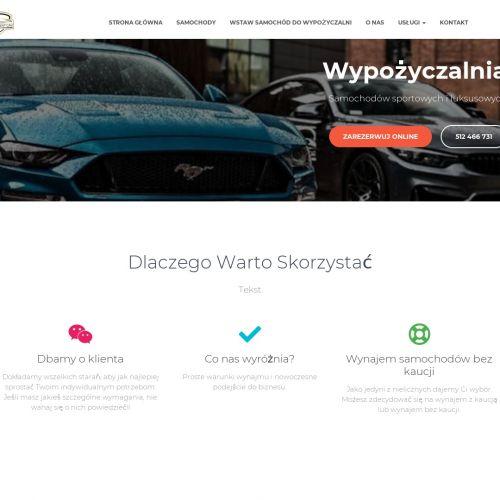 Wypożyczalnia samochodów luksusowych bez kaucji Warszawa