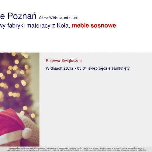 Materac piankowy Poznań