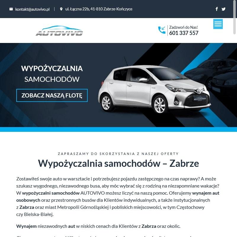 Wynajem aut w Gliwicach