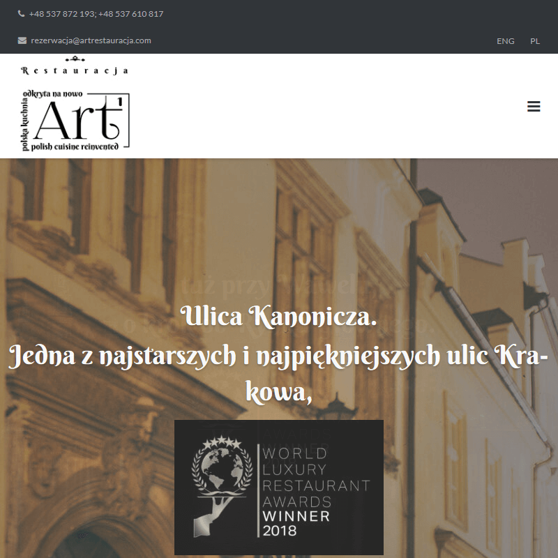 Kraków - restauracja okolice rynku