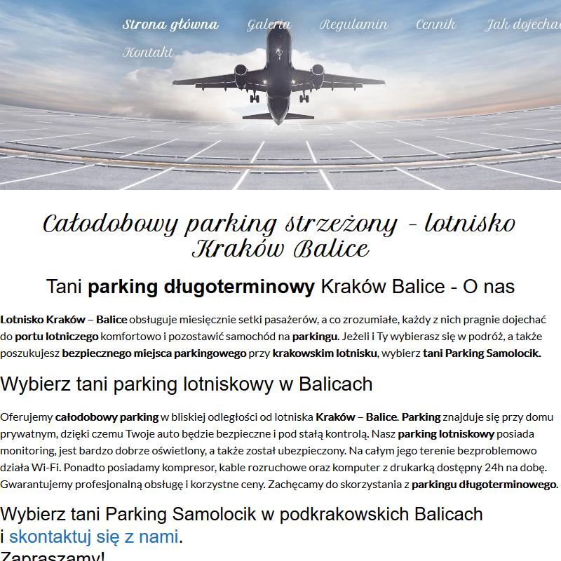 Kraków - balice parking