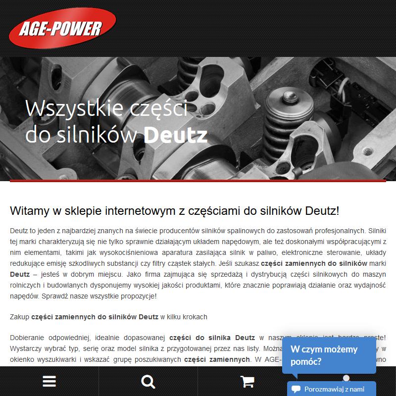 Warszawa - czesci zamienne do silnika deutz