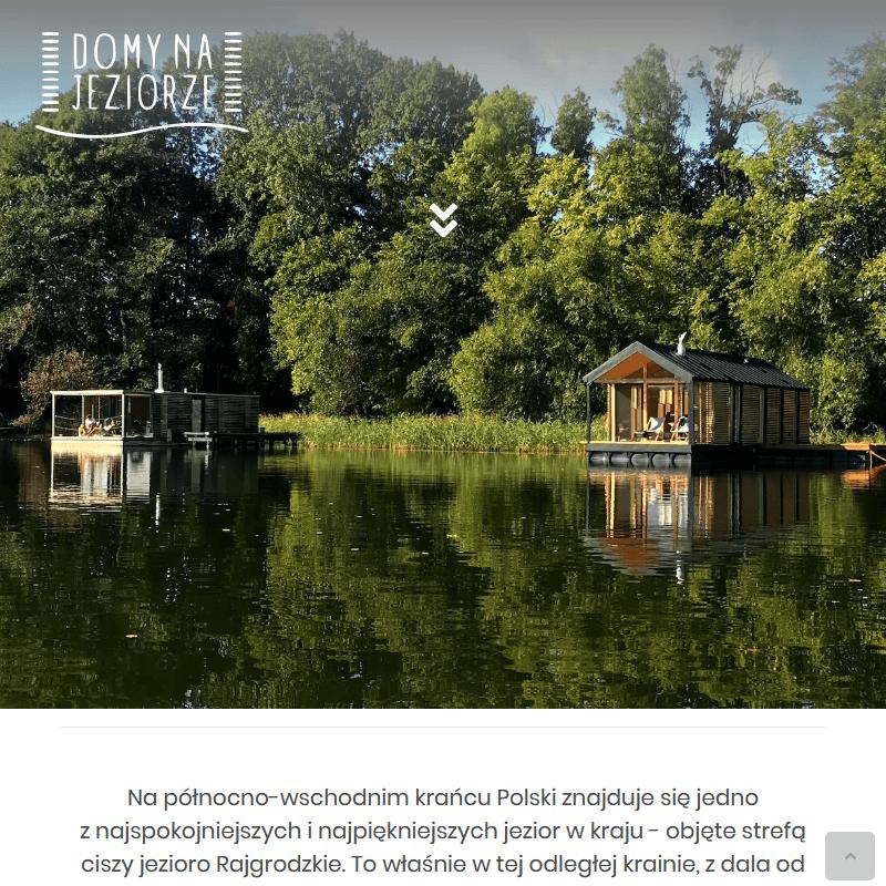 Warszawa - pływające domki na jeziorze do wynajęcia