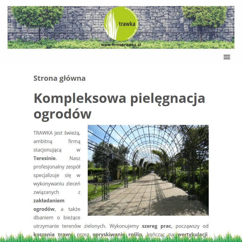 Koszenie trawy w Warszawie