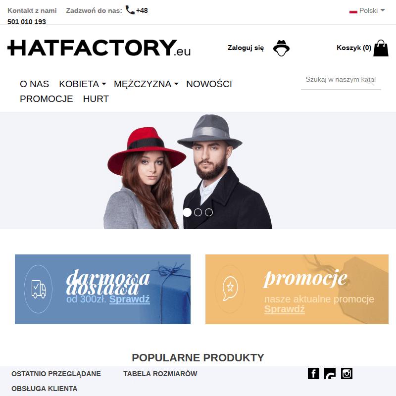 Warszawa - sklep z czapkami zimowymi