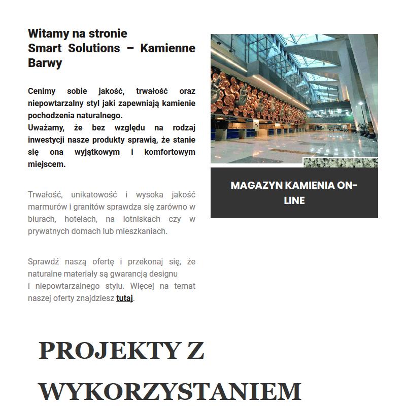 Trawertyn w Warszawie