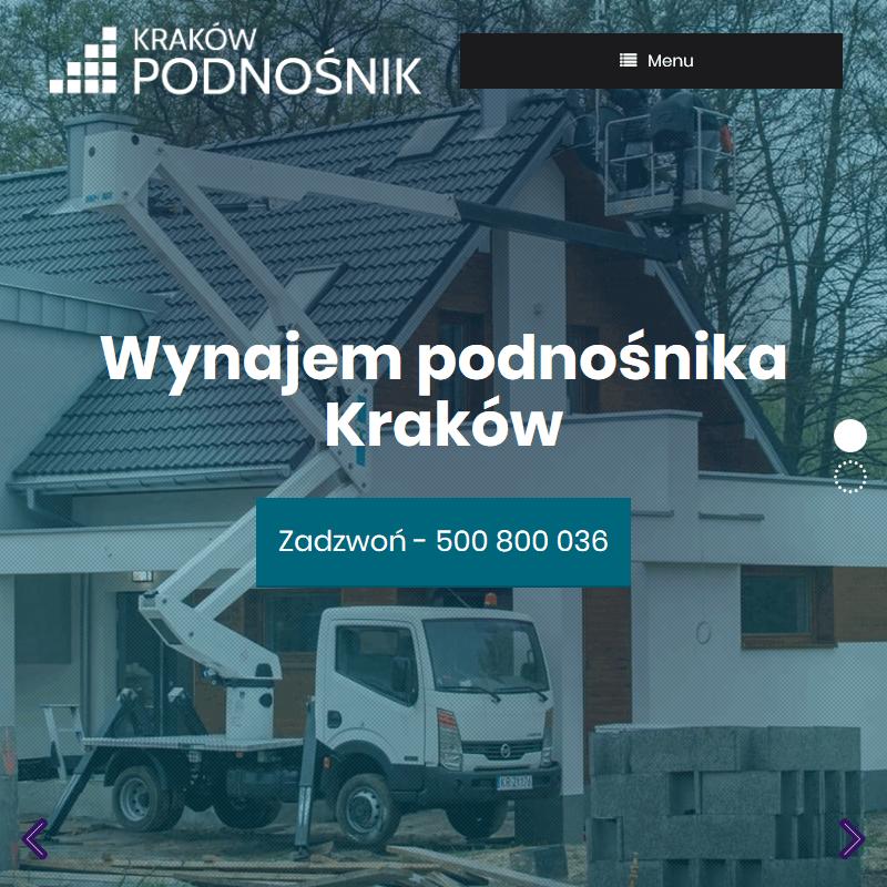 Wynajem podnośników koszowych Kraków