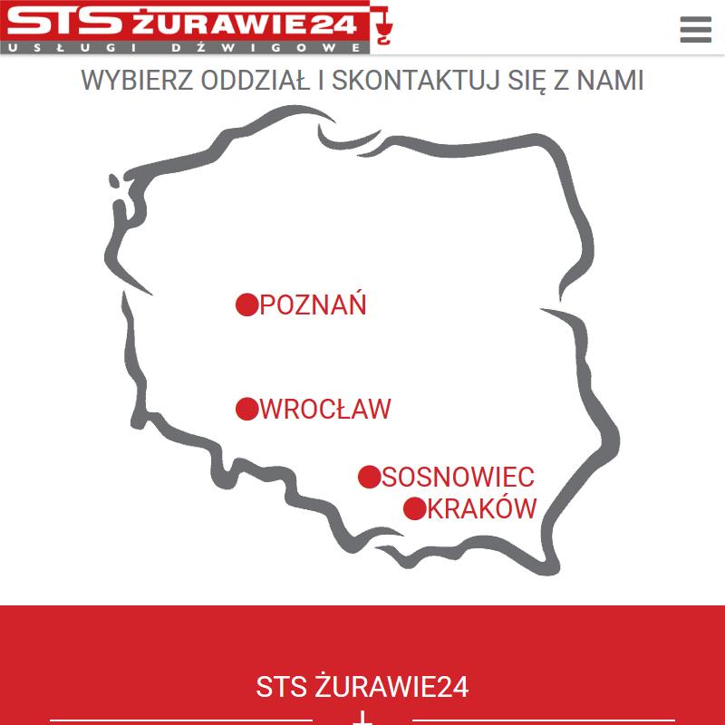 Wynajem dzwigów w Krakowie