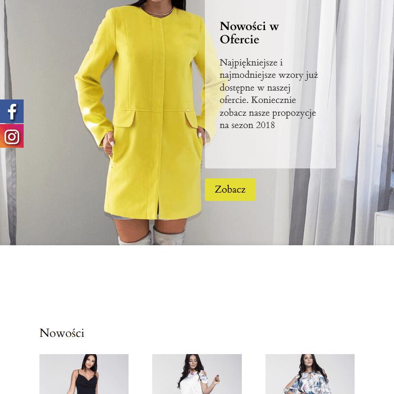 Elegancka sukienka koktajlowa polski producent